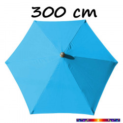 Parasol Arcachon 300 cm Alu Bleu Azur