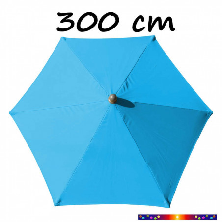 Parasol Arcachon Bleu Azur 300 cm Alu