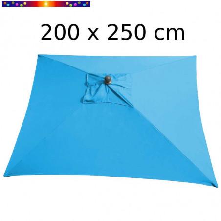Parasol Arcachon Bleu Turquoise 200 x 275 cm Alu