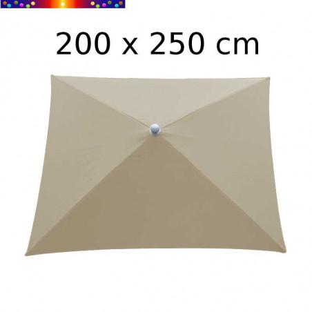 Parasol Arcachon Beige Lin 200 x 250 cm Alu