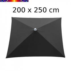Parasol Arcachon Gris Anthracite 200 x 250 cm Alu