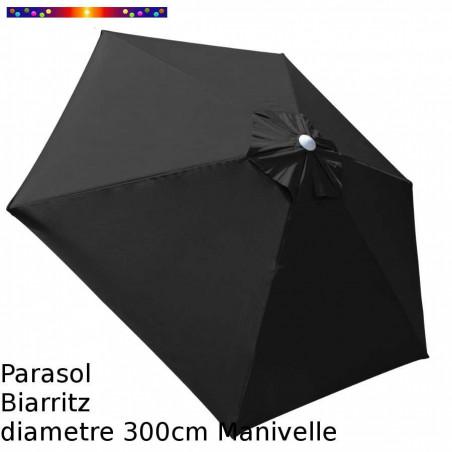 Parasol Biarritz Gris Anthracite 300 cm alu manivelle