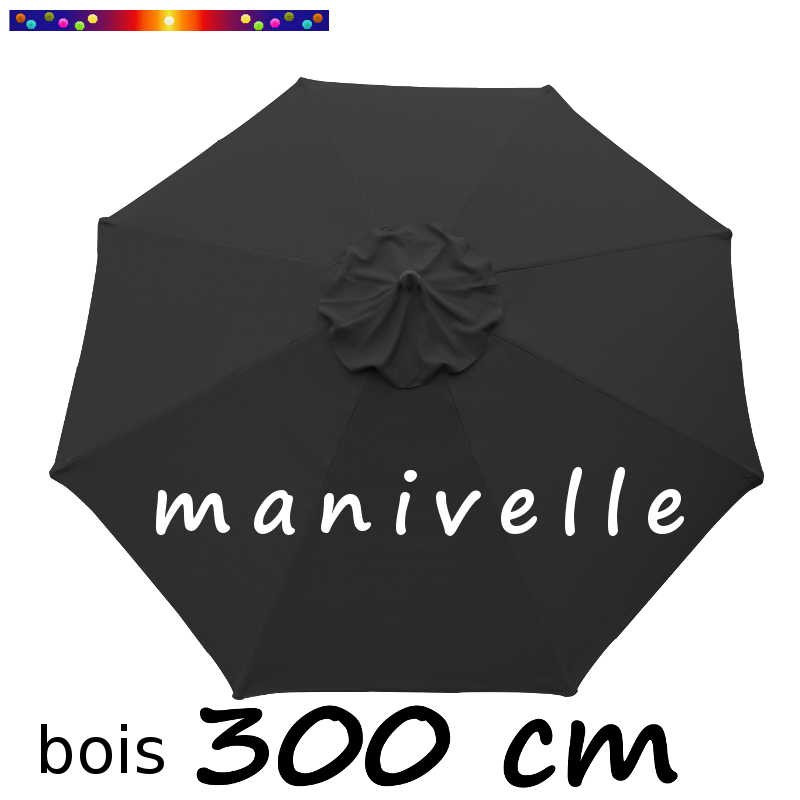 parasol mod le lacanau bois rond manivelle 300 cm. Black Bedroom Furniture Sets. Home Design Ideas