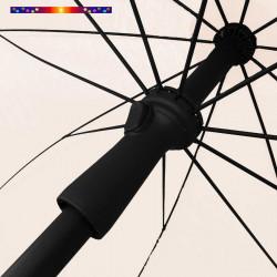 Parasol Ecru 200 cm design italien: vu du mecanisme push up