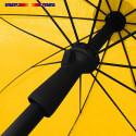 Parasol Jaune d'or 200 cm design italien : vu de la poignée push-up