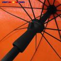 Parasol Orange Mandarine 200 cm design italien : vu du système push-up