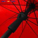 Parasol Rouge Coquelicot 200 cm design italien : vu du système push-up