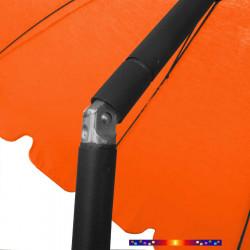 Parasol Orange Mandarine 200 cm design italien : détail en position inclinée