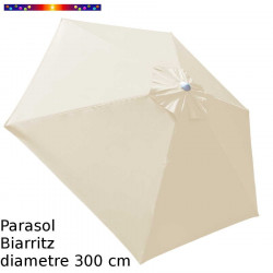 Parasol Biarritz Ecru Nature 300 cm Alu
