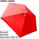 Parasol Biarritz diamètre 300 cm Rouge Coquelicot