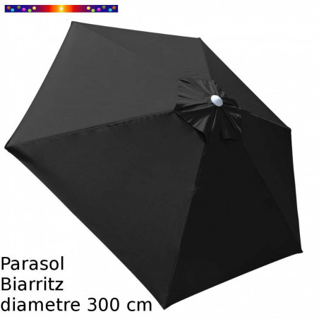 Parasol Biarritz Gris Anthracite 300 cm Alu
