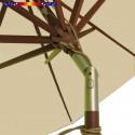 Parasol Lacanau Sable Greige 300 cm Bois : Détail de l'inclinaison