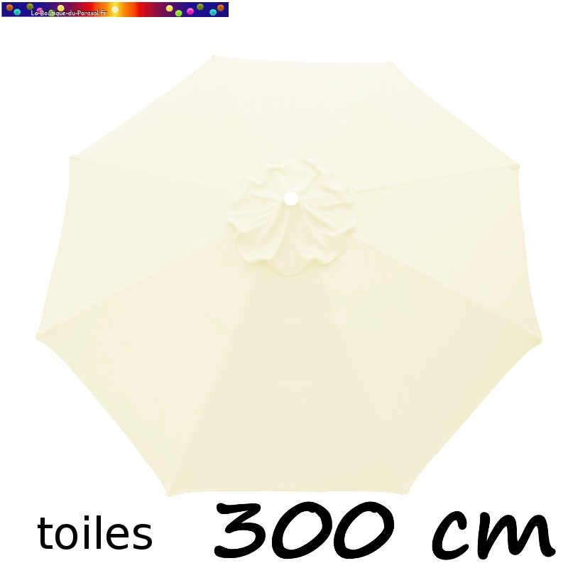 Toile en second choix : Toile de remplacement pour parasol 300 cm COULEUR BLANC ECRU