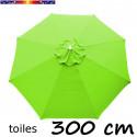 Toile en second choix : Toile de remplacement pour parasol 300 cm COULEUR VERT LIME