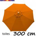 Toile en second choix : Toile de remplacement pour parasol 300 cm COULEUR ORANGE