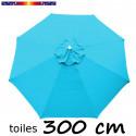 Toile en second choix : Toile de remplacement pour parasol 300 cm COULEUR BLEU TURQUOISE
