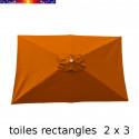 Toile en second choix : Toile à personnaliser pour parasol rectangle 2x3 ORANGE