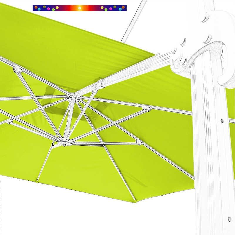 Toile en second choix : Toile 3x3 pour Parasol déporté Biscarrosse VERT LIME