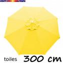 Toile en second choix : Toile de remplacement pour parasol 300 cm COULEUR JAUNE