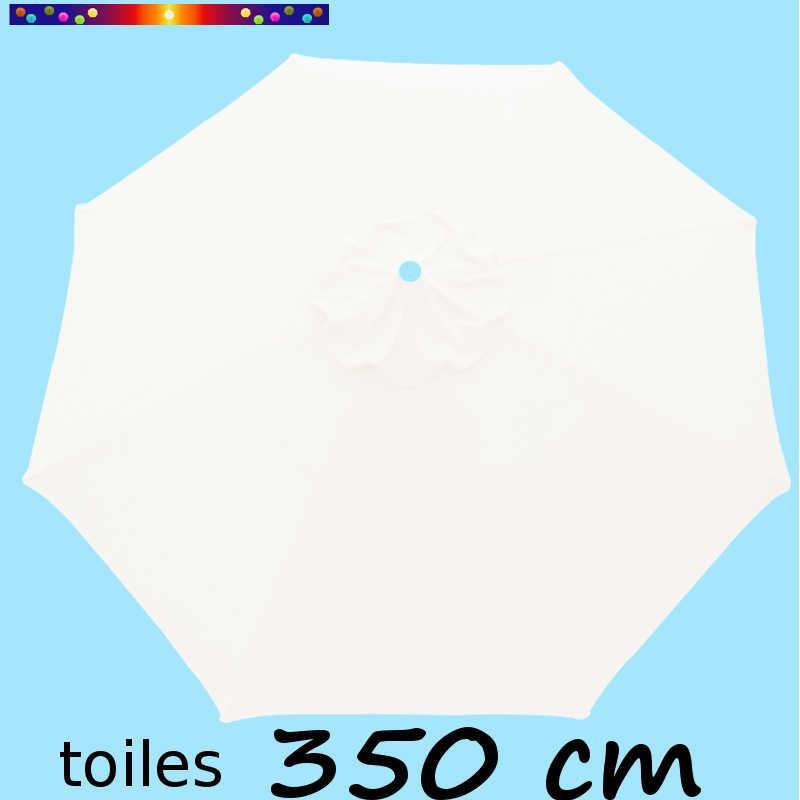 Toile en second choix : Toile à personnaliser pour parasol 350 cm Blanc Jasmin