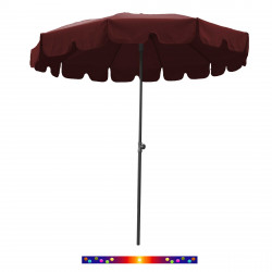 Parasol Rouge Bordeaux 200 cm design italien