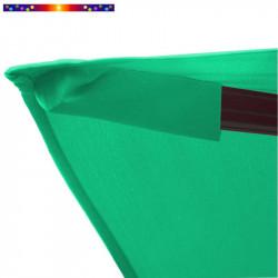 Toile de remplacement 3x3 pour Parasol Excentré Vert Emeraude : détail du fourreau de fixation de la toile