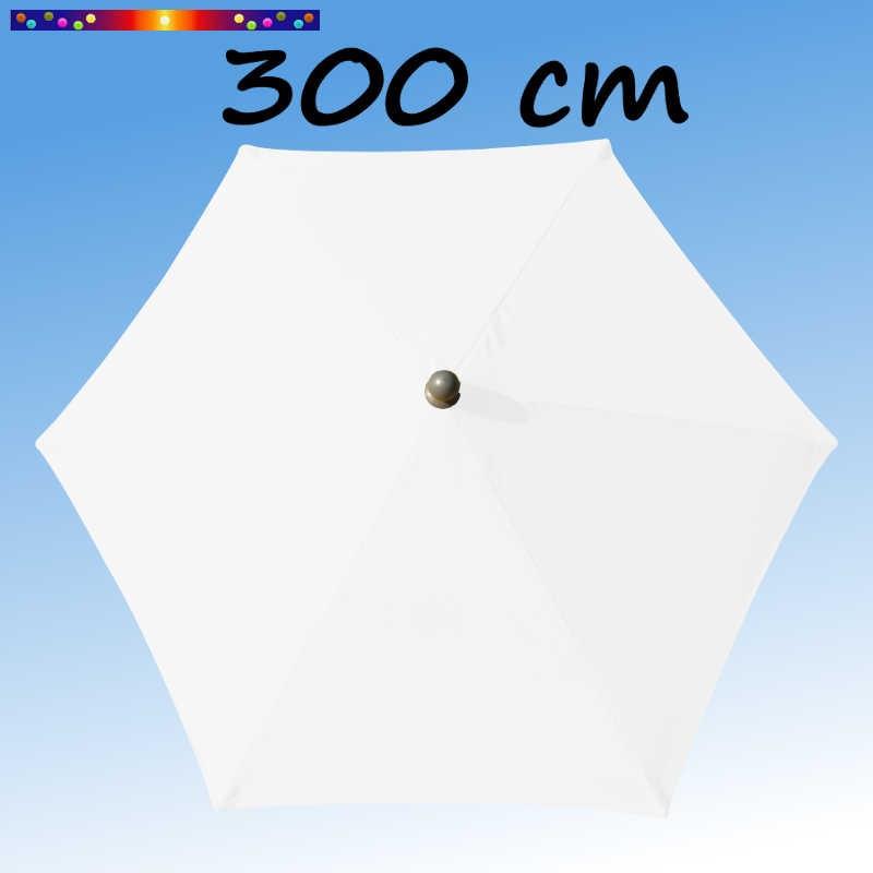 Parasol Arcachon Blanc diamètre 300 cm : vu de dessus