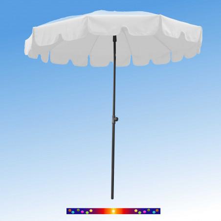 Parasol Blanc 200 cm design italien : vu de face