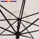 Parasol Lacanau Ecru Nature 350 cm : détail vu de dessous