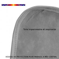 Housse pour parasol 140 cm x Largeur 30 cm : détails de la toile et coutures