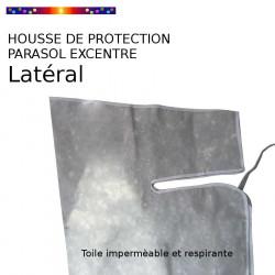 Housse pour parasol excentré latéral 310 cm x Largeur 60 cm : haut de la housse vue a plat