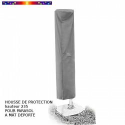 Housse de protection pour parasol Hauteur 235 cm x Largeur 60 cm : sur parasol déporté 3x3