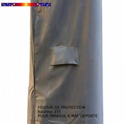 Housse de protection pour parasol Hauteur 235 cm x Largeur 60 cm : détail de l'aeration de la housse