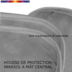 Housse pour parasol 200 cm x Largeur 40 cm : qualité de la toile et des coutures
