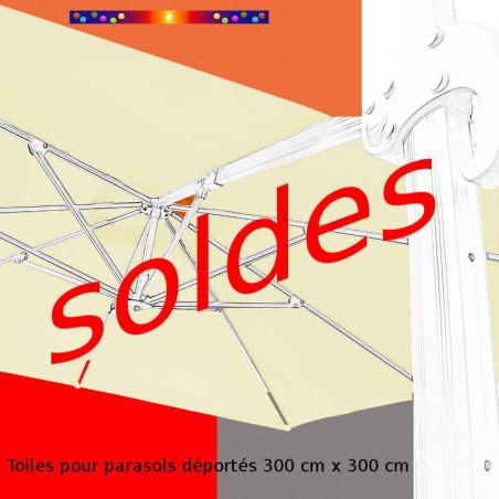 Toile second choix DEPORTÉE carrée 3X3 Toile de remplacement pour Parasol Excentré 300 cm X 300 cm modèle Biscarrosse