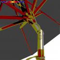 Parasol Lacanau Gris Souris 300 cm Bois : détail de l'inclinaison