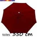 Toile 3°choix : Toile de remplacement pour parasol OCTOGONAL 350 cm Bordeaux