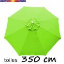 Toile 3°choix : Toile de remplacement pour parasol OCTOGONAL 350 cm Lime