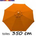 Toile 3°choix : Toile de remplacement pour parasol OCTOGONAL 350 cm Orange