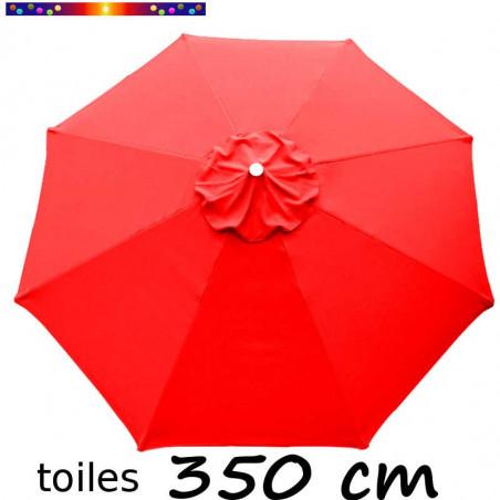 Toile 3°choix : Toile de remplacement pour parasol OCTOGONAL 350 cm Rouge Coquelicot