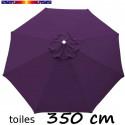 Toile 3°choix : Toile de remplacement pour parasol OCTOGONAL 350 cm Violette