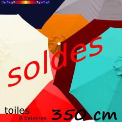 Toile second choix : Toile de remplacement pour parasol OCTOGONAL 350 cm : toutes les couleurs