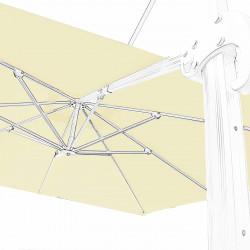 Toile en second choix : Toile 3x3 pour Parasol déporté Biscarrosse Blanc Ecru