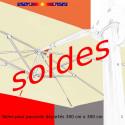 Toile second choix : Toile de remplacement 3x3 pour Parasol déporté Biscarrosse : toutes les couleurs