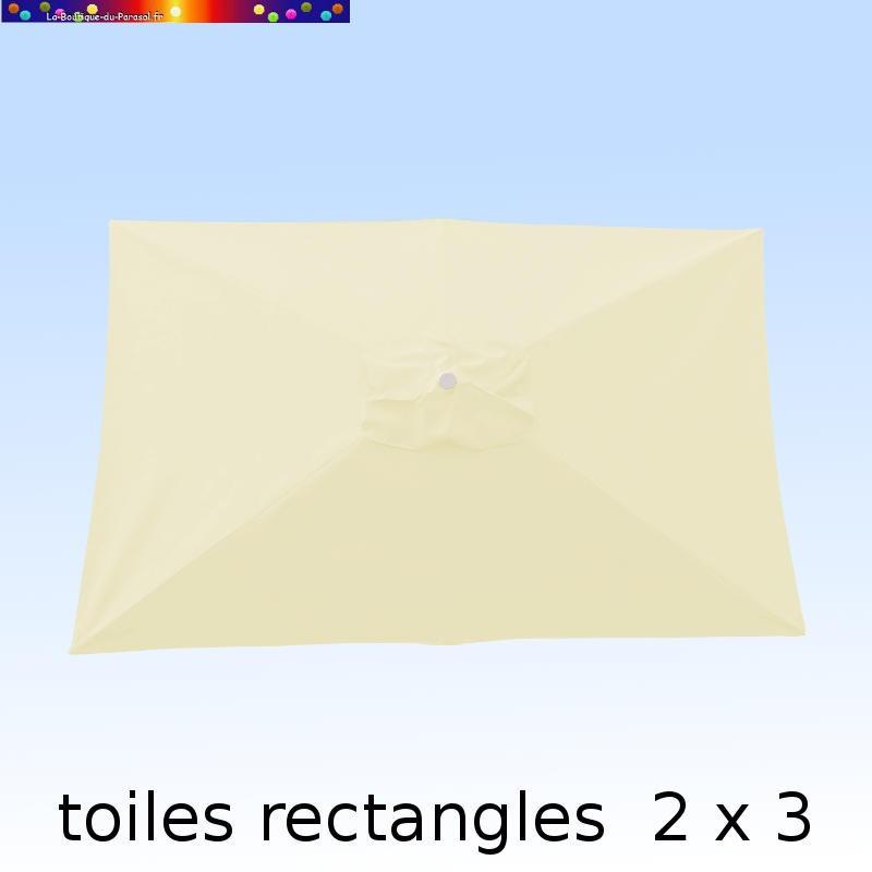 Toile 3° choix : Toile pour parasol rectangle 2x3 Blanc écru nature