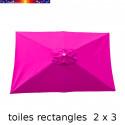 Toile 3° choix : Toile pour parasol rectangle 2x3 Rose Fushia