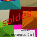 Toile 3° choix : Toile pour parasol rectangle 2x3 toutes les couleurs disponinbles