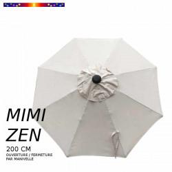 Parasol Mini ZEN : toile vue de dessus