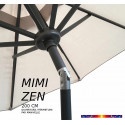 Parasol Mini ZEN : détail de l'inclinaison