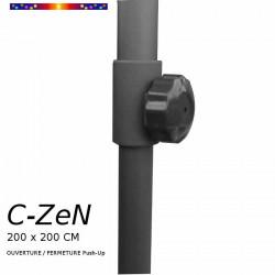Parasol C-ZeN 200 x 200 cm : détail du réglage de la hauteur